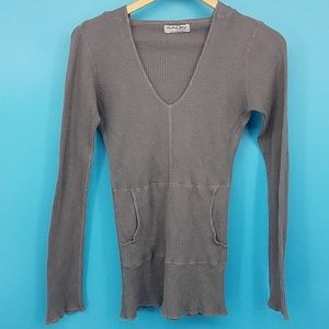 Michael Stars Hooded Cotton One Size Gray (ld1)